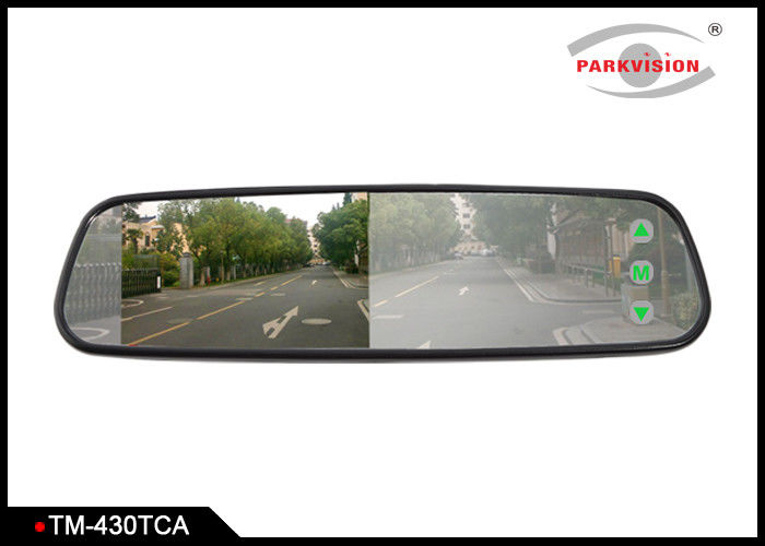 "4.3"" Reversing Mirror Monitor / Digital Rear View Mirror With Hidden Touch Button"