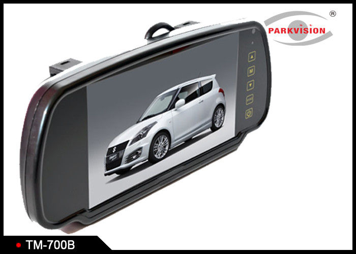 7 Inch Touch Screen Rear View Mirror LCD Monitor With Changeable Bracket